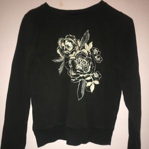 Abercrombie Black Floral Jumper/Sweater